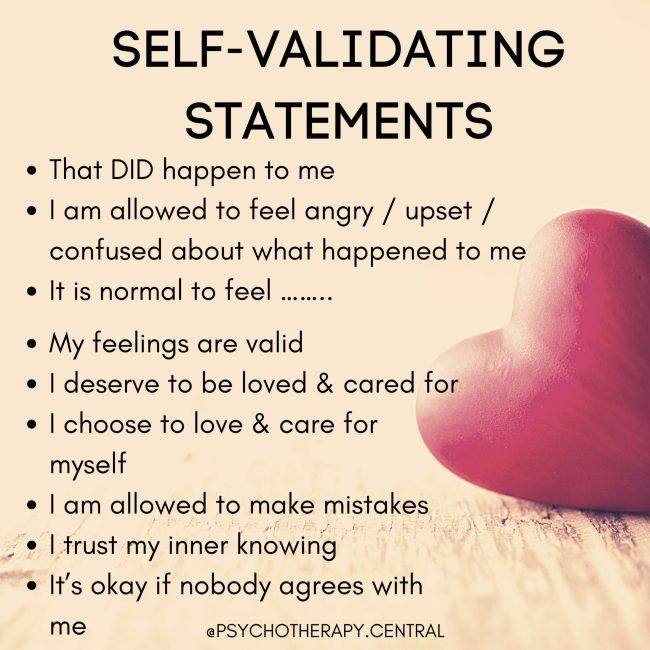 self validation statements