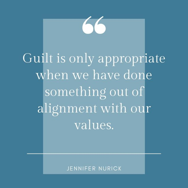 when is guilt appropriate