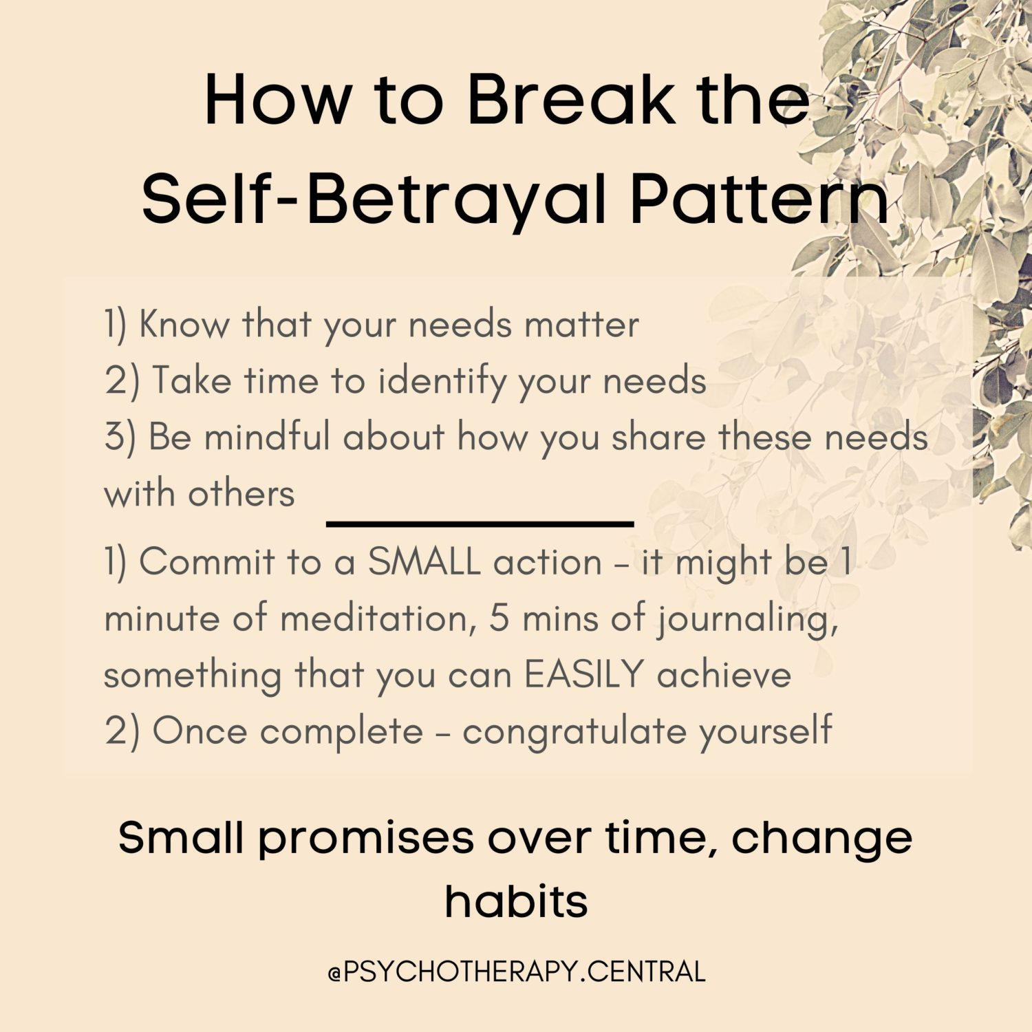 How to Break the Self-Betrayal Pattern