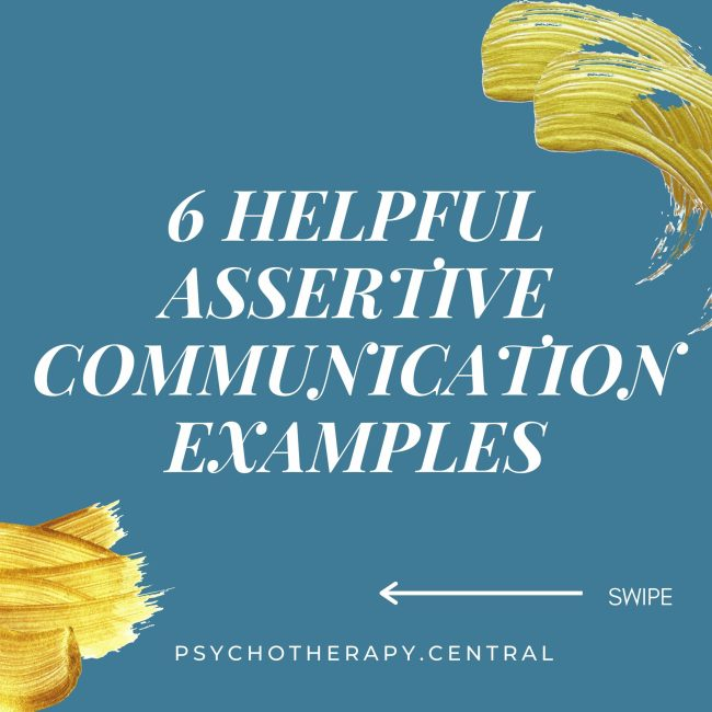 Helpful Assertive Communication Examples