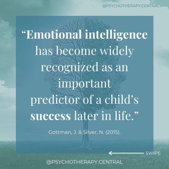 Emotional Intelligence is a Predicator of Success.
