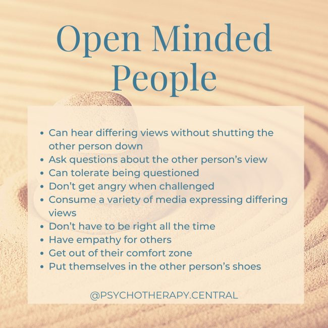 open minded people