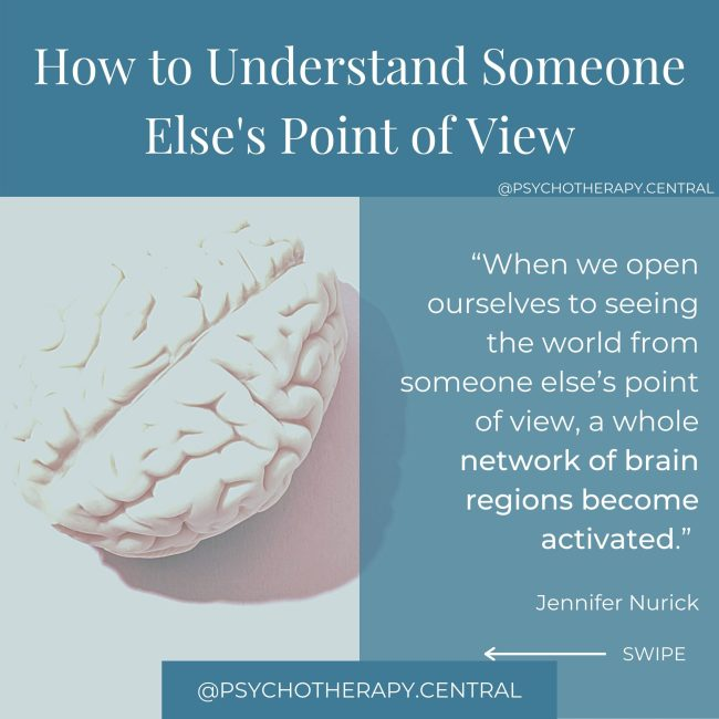 How to understand someone else's point of view