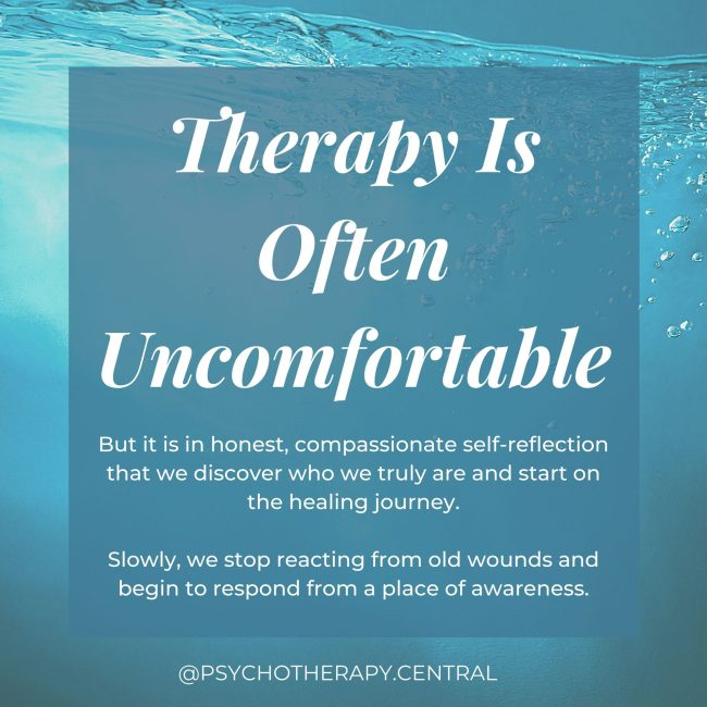 Therapy Is Often Uncomfortable