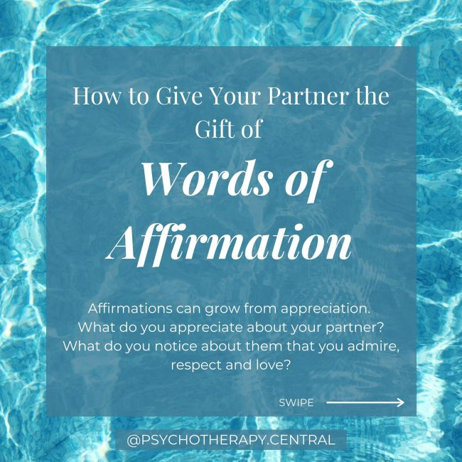 How to Give Your Partner the Gift of Words of Affirmation