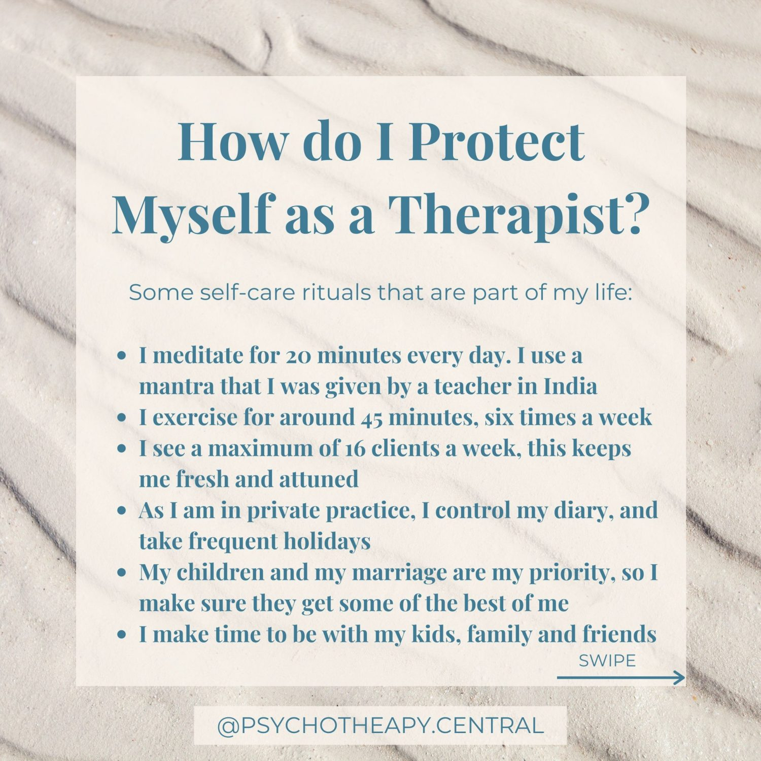 How do I protect myself as a therapist
