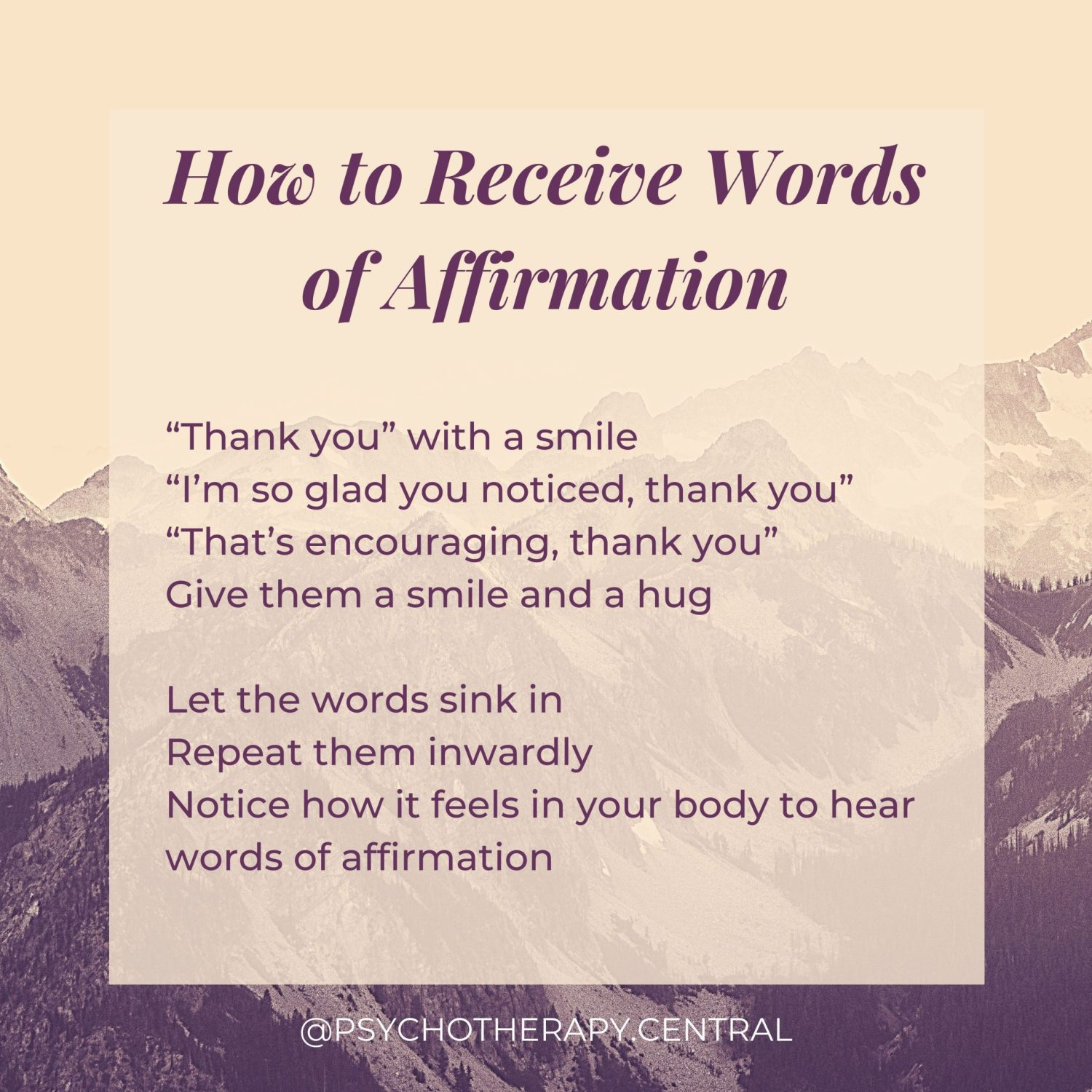 How to Receive Words of Affirmation