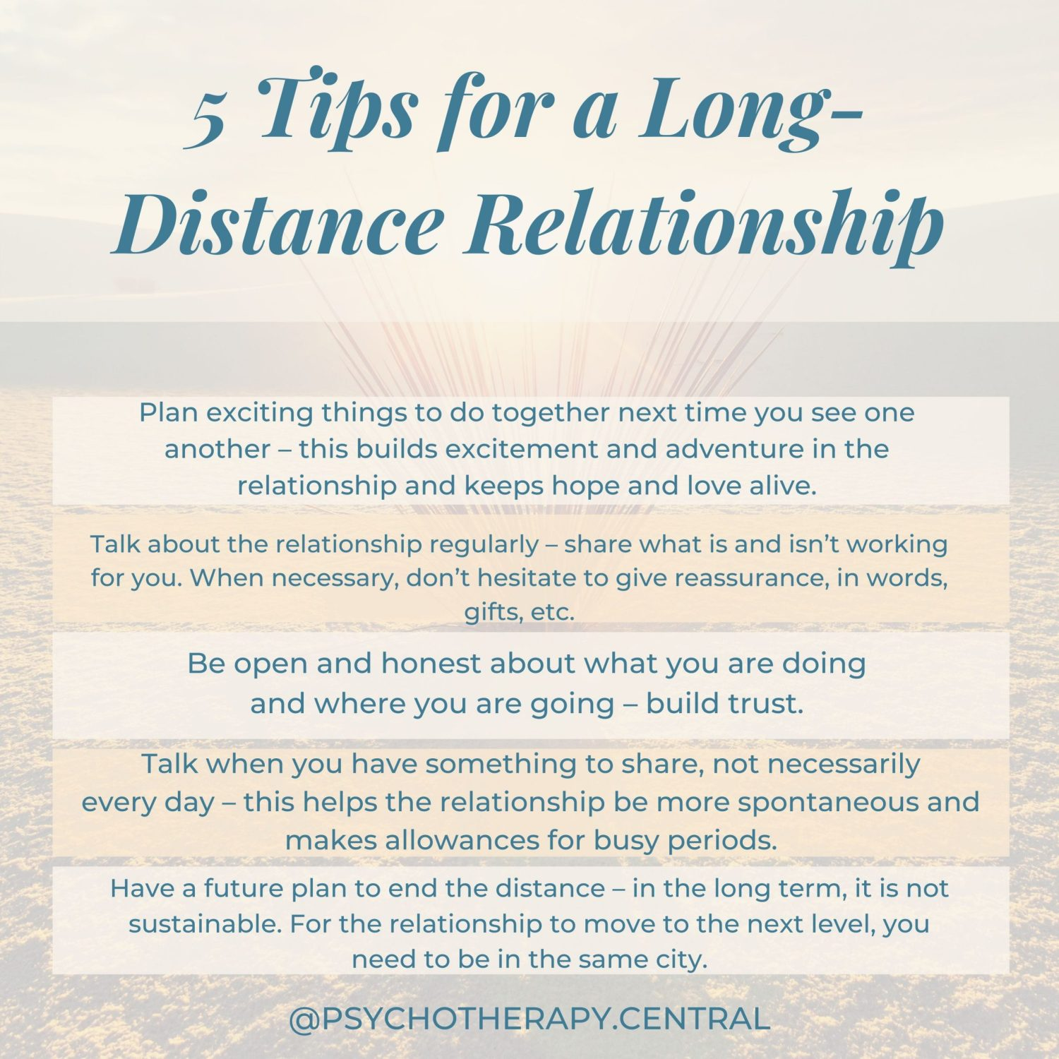 Five Tips for a Long-Distance Relationship