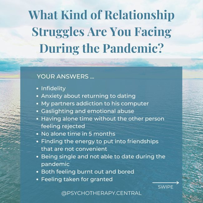 What Kind of Relationship Struggles Are You Facing During the Pandemic
