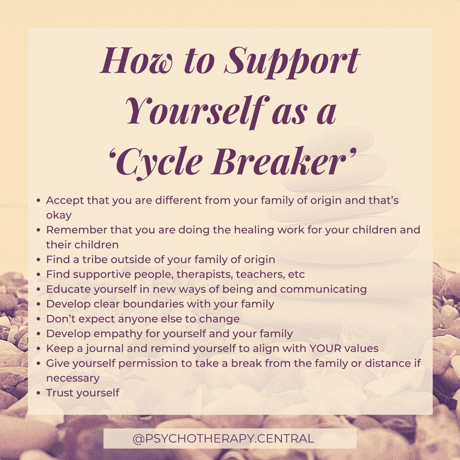 How to Support Yourself as a 'Cycle Breaker'