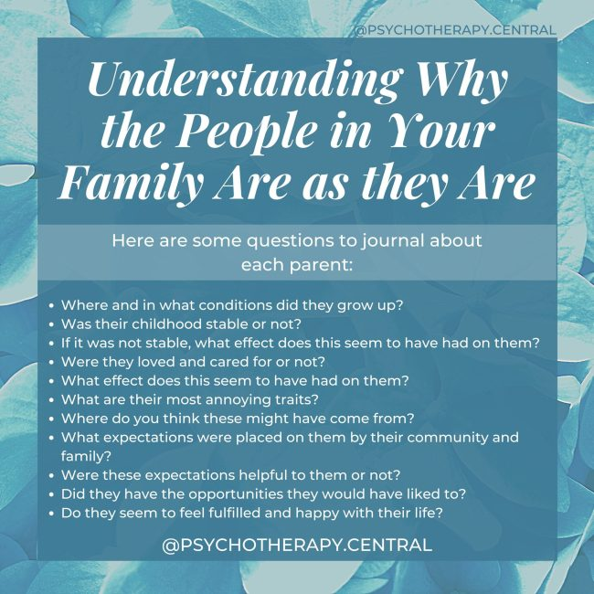 Understanding Why the People in Your Family Are as they Are
