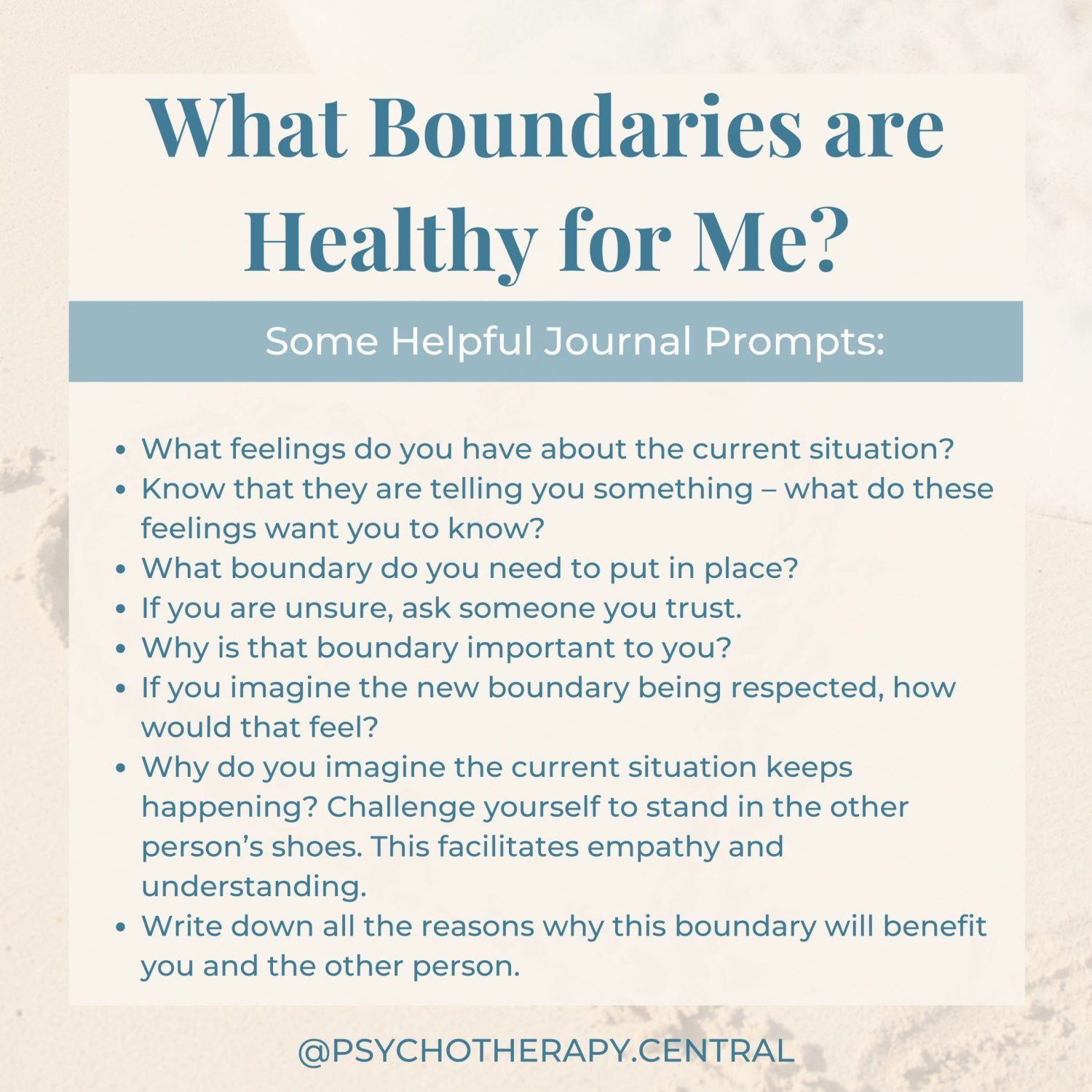 What Boundaries are Healthy for Me?
