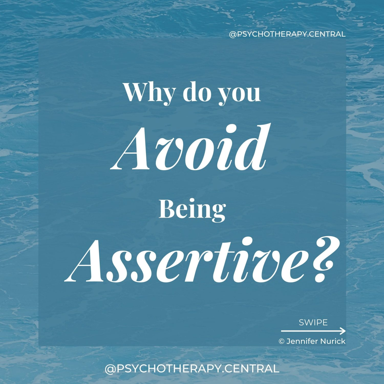 You think you will be judged or rejected You assume the other person will be upset You doubt the validity of your needs You avoid potentially uncomfortable situations and conflict You lack the skills to communicate assertively