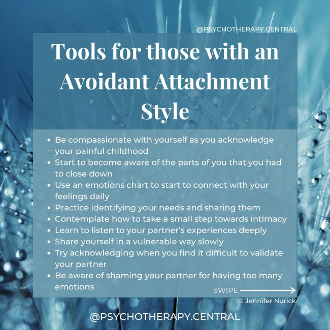 Tools for Those with an Avoidant Attachment Style