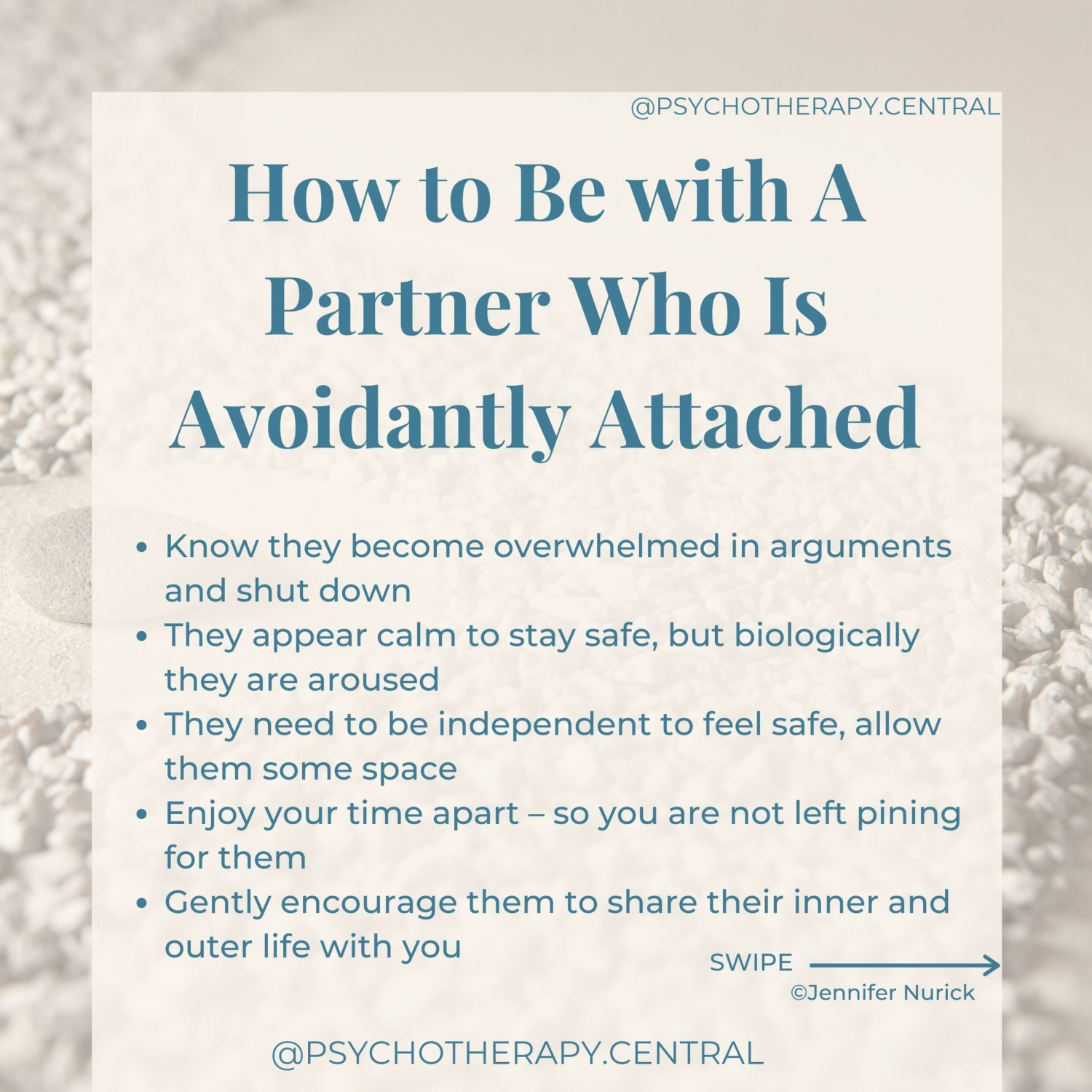 How to Be with A Partner Who Is Avoidantly Attached