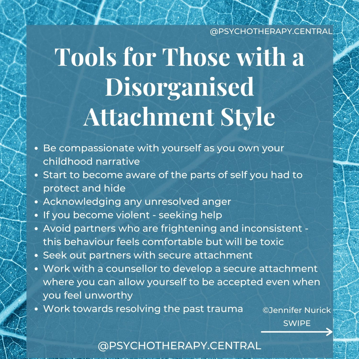 Tools for Those with a Disorganised Attachment Style