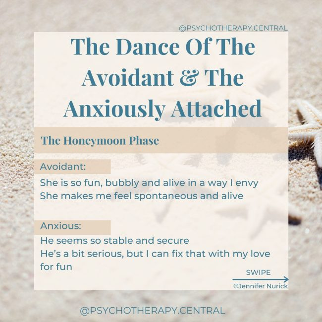 The Dance Of The Avoidant & The Anxiously Attached
