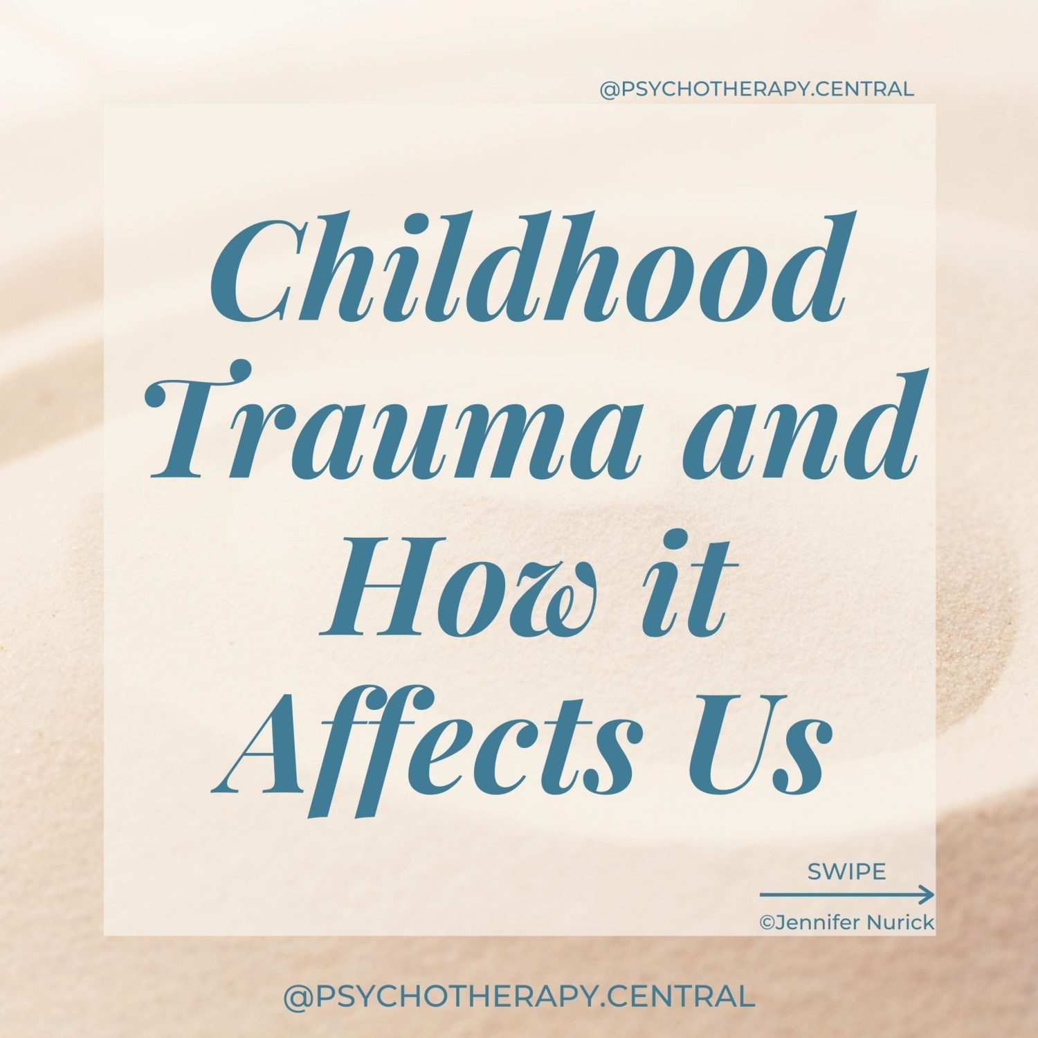 Childhood Trauma and How it Affects Us