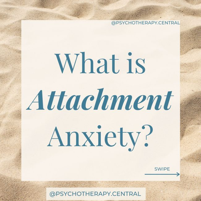 what is attachment anxiety?