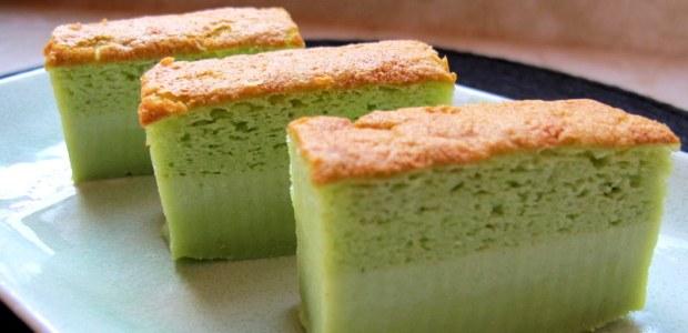 香兰魔术卡仕达蛋糕 Pandan Magic Custard Cake