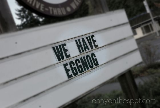 Eggnog! There is rejoicing in all the land!!!