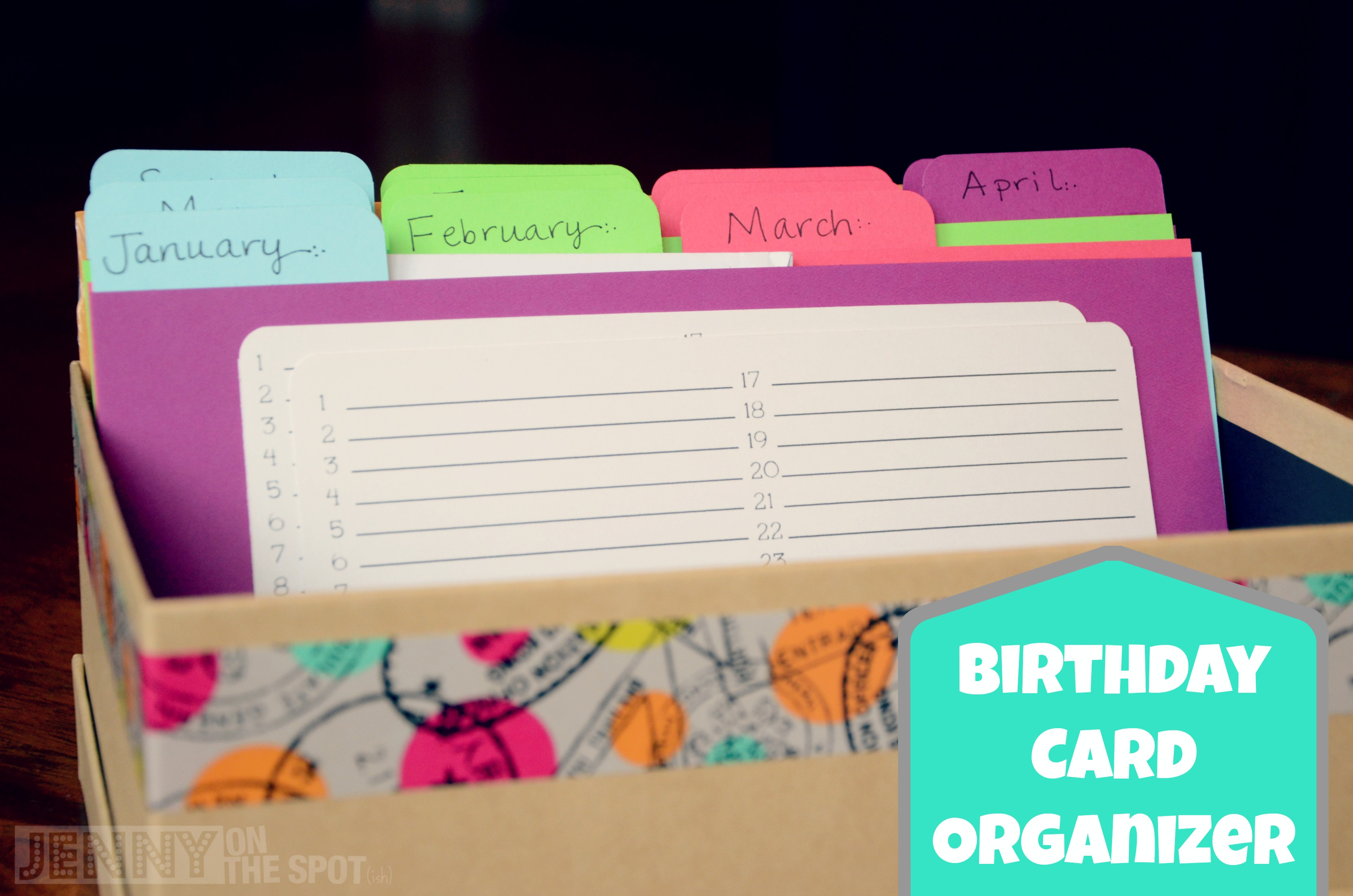How To Make A Birthday Card Organizer And Card Box Jenny On The Spot