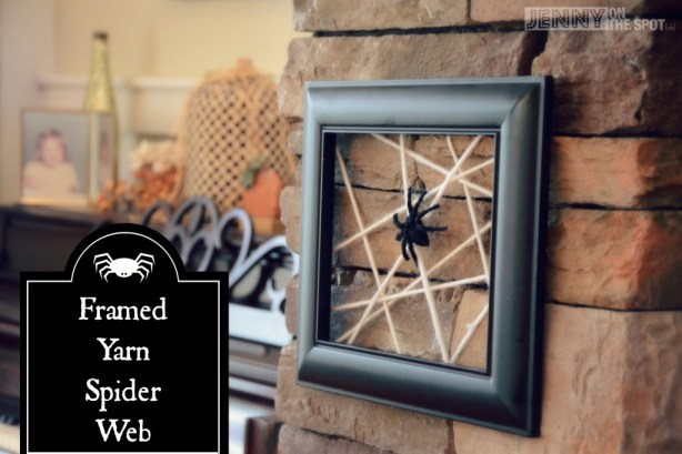 Framed Yarn Spider Web by @jennyonthespot