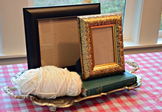 thrifted frame craft supplies via @jennyonthespot