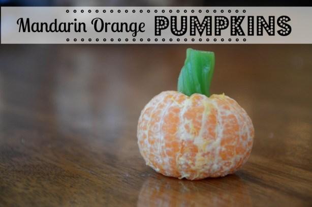 Halloween Treats: Mandarin Orange Pumpkins by @jennyonthespot