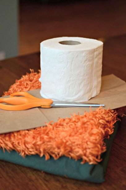 No-sew, toilet paper roll pumpkins