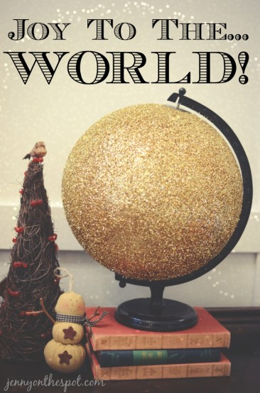 DIY Glittered Globe via @jennyonthespot