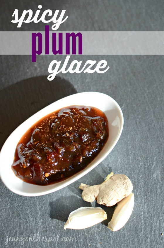 Spicy Plum Glaze for pork chops