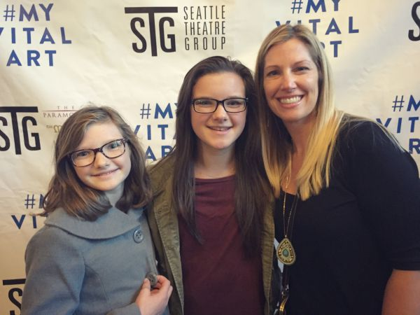 My girls and I at The Paramount Theatre in Seattle to see Annie