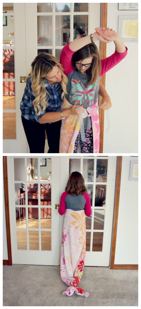 DIY Mermaid tail with a beach towel via @jennyonthespot
