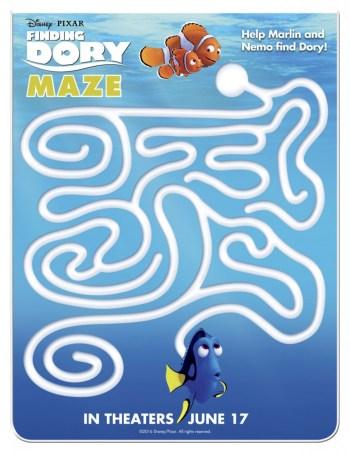 Finding Dory Printables - Finding Dory printable maze via @jennyonthespot