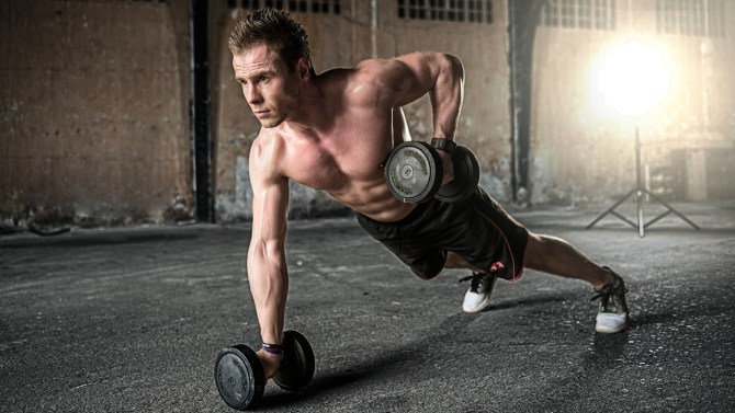 fit man working out