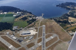 Flying over Victoria airport