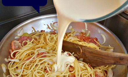 Pasta Carbonara een supersnel recept. In een paar stappen op tafel!
