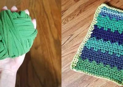 How to Make a Crochet T-Shirt Rug – EASY!