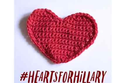 Let's Make Hearts for Hillary Clinton