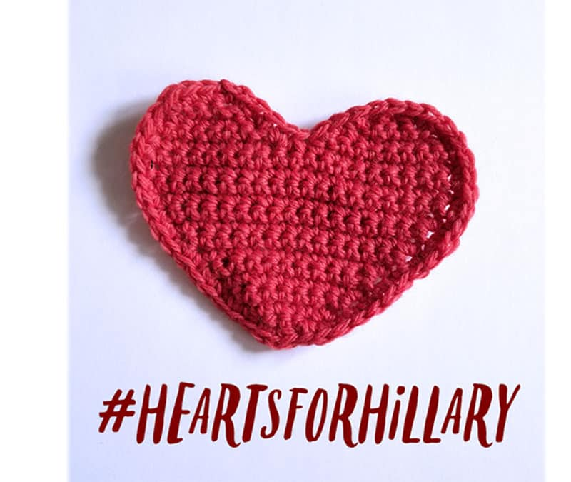 hearts for hillary