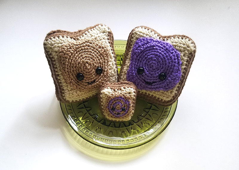 Peanut Butter and Jelly Crochet Family Pattern