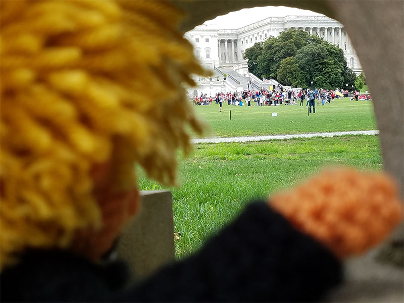 Tiny Trump Goes to Washington Rally for America