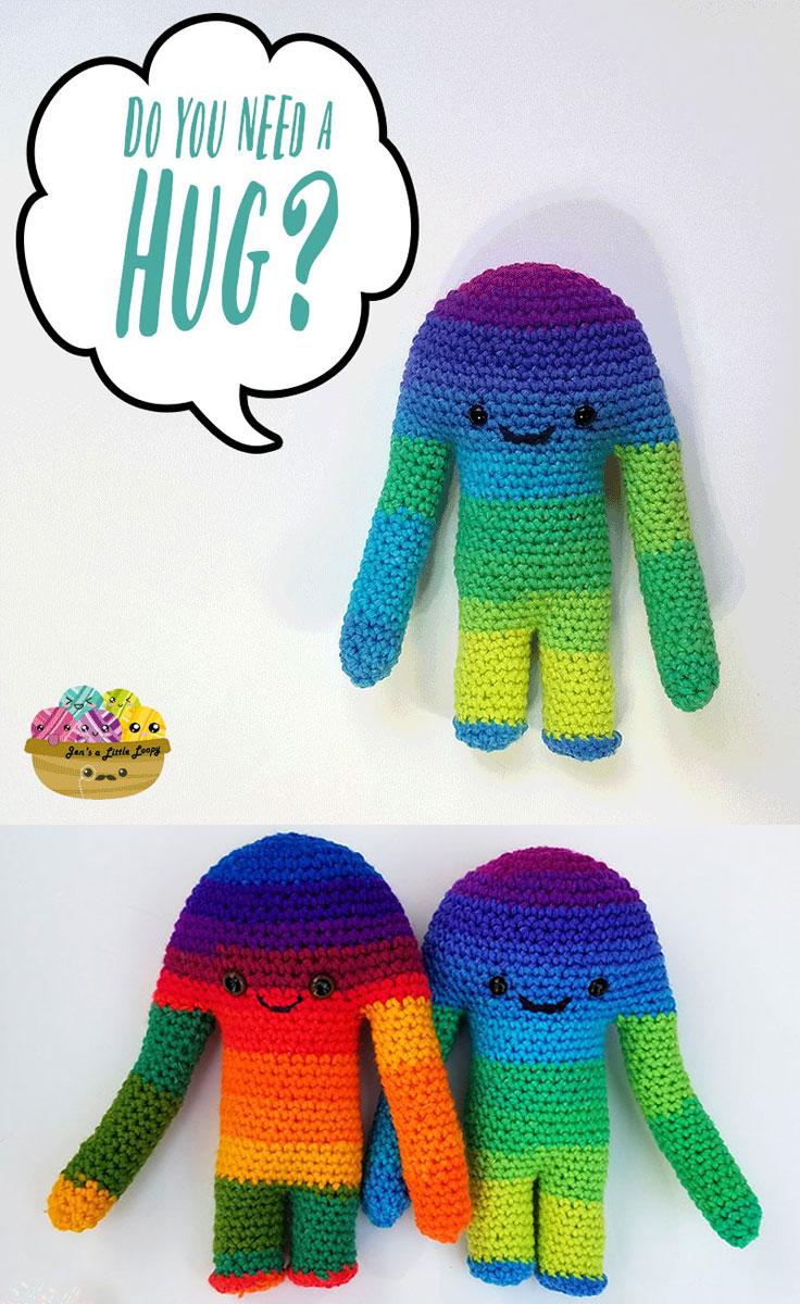 Hugamonster free monster crochet pattern