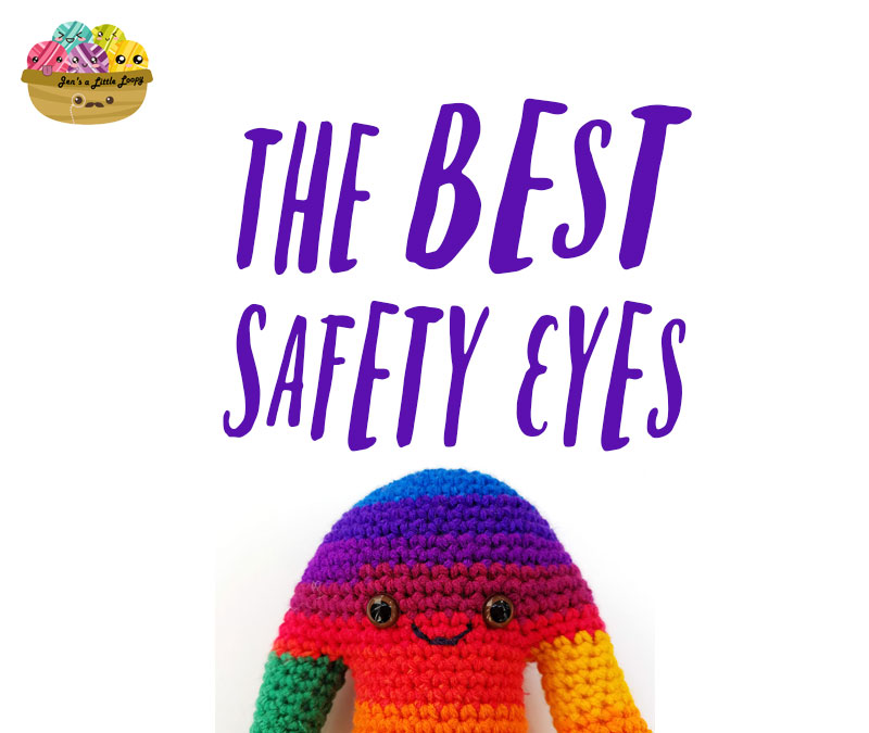 Experimenting with safety eyes is a great way to add personality to amigurumi. This post includes tons of different safety eyes ideas and some DIY tips!