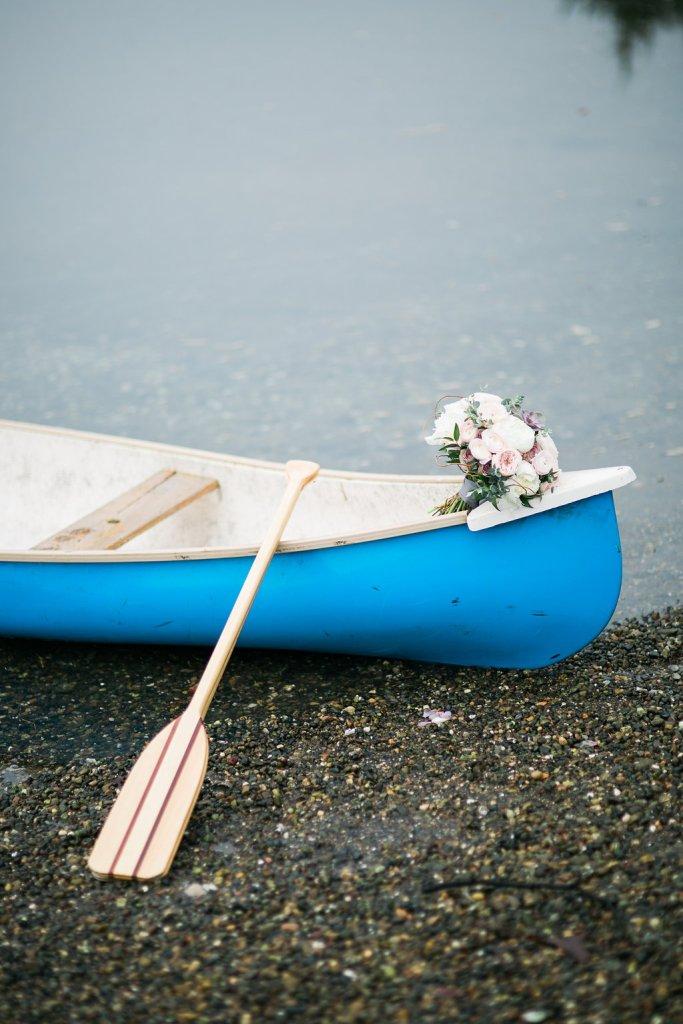 Canoe & Bouquet, Pacific Northwest Wedding