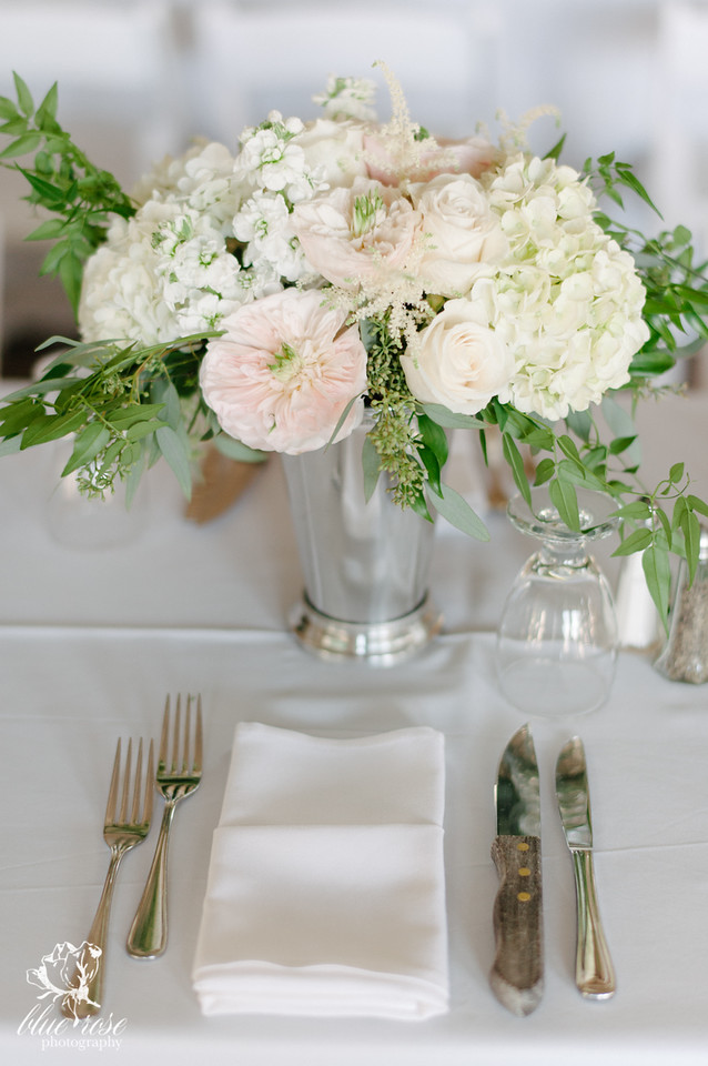 Garden Rose and Hydrangea Centerpiece