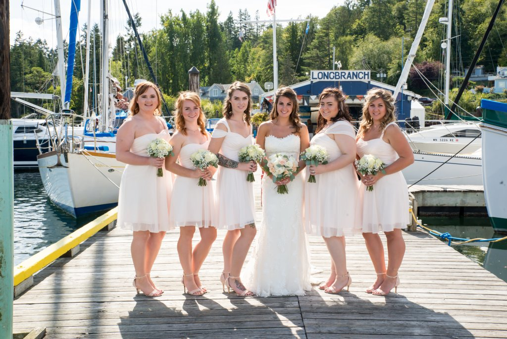 Marina, Gig Harbor, Bride & Bridesmaids