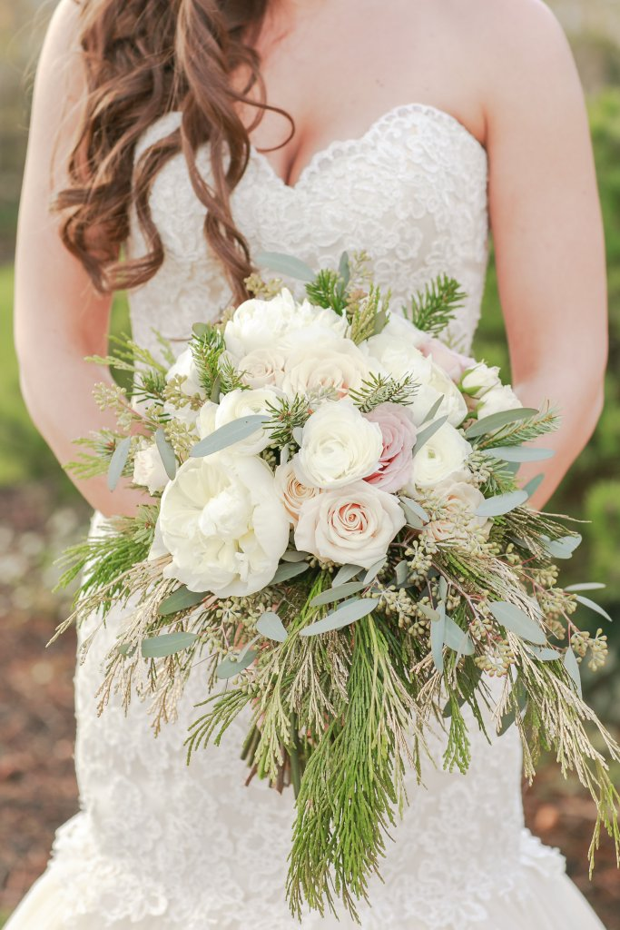 Bridal Bouquet, Peony Bouquet, Winter Wedding Bouquet
