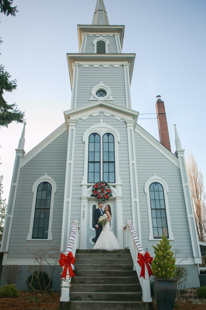 Port Gamble Wedding, Winter Wedding, Holiday Wedding